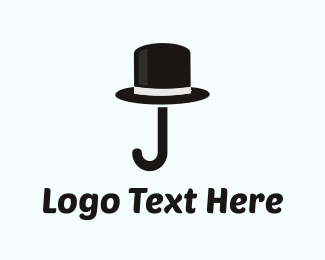 Gentleman - Cane & Hat logo design