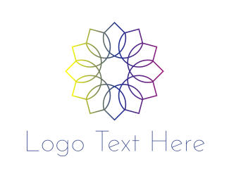 Gradient - Rainbow Flower logo design