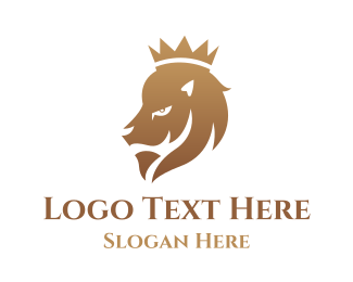 Mammal - Gradient Lion King logo design