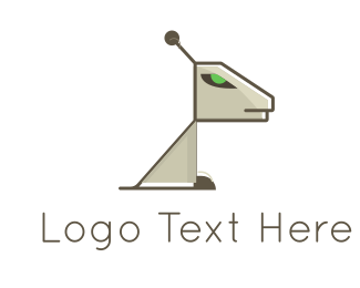 Antenna - Robotic Dog logo design