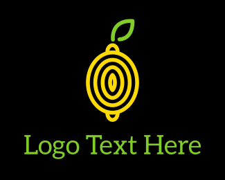 Abstract Lemon Logo