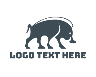 Fat - Wild Boar logo design