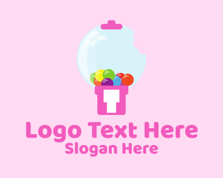 Candy - Gum Machine logo design