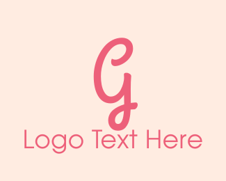 """Pink Feminine Letter G"" by BrandCrowd"