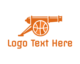 Varsity - Basketball Cannon  logo design