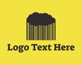 Database - Rain Barcode Cloud logo design
