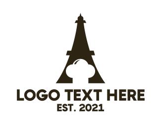 Eiffel Tower - Eiffel Chef logo design