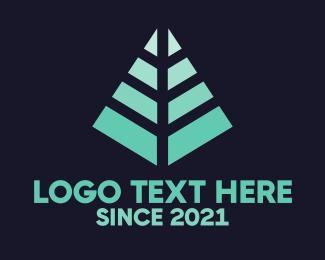 Arrowhead - Modern Pine Tree logo design