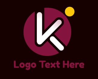 Object - Circle Popsicle K logo design