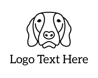 Dog Sitting - Dog Face logo design