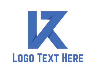 """""""Blue Letter K"""" by town"""