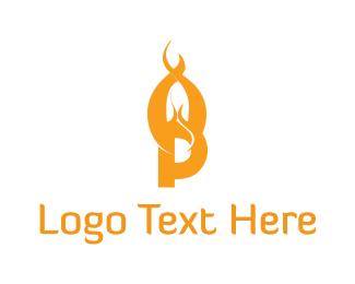 Flame - Flame Letter P logo design