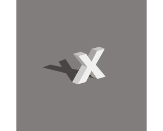 Shadow - Letter X logo design
