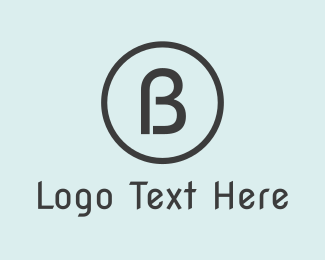 """Modern B Circle"" by BrandCrowd"