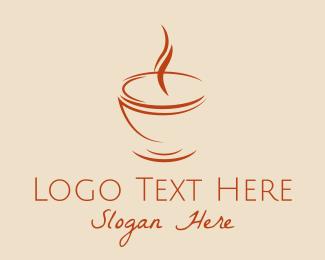 Lounge - Brown Cuppa Steam logo design