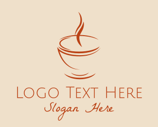 Espresso - Brown Cuppa Steam logo design