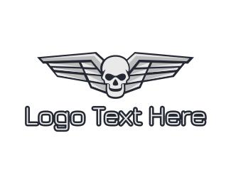 Chrome - Chrome Skull Wing logo design