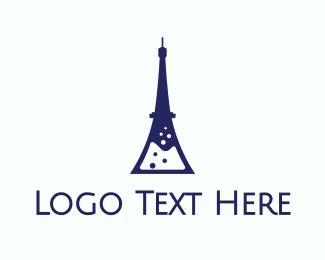 Eiffel Tower - French Laboratory logo design
