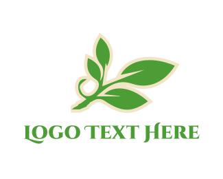 Vine - Green Branch logo design