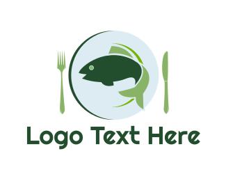 Plate - Fish Dish logo design