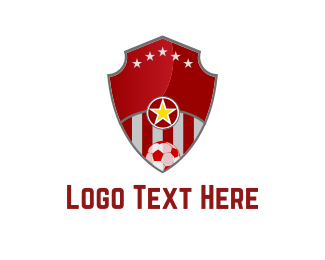 Ball - Soccer Shield logo design