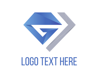 Jewel - G Diamond logo design