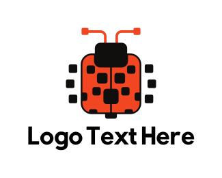 Bot - Square Ladybug logo design