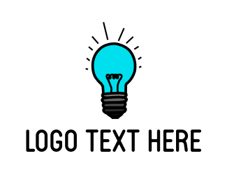 Light Bulb - Blue Light  logo design