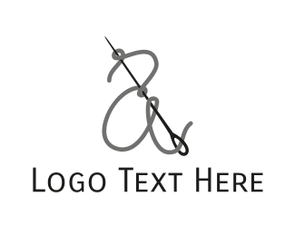 Sew - Thread & Needle logo design