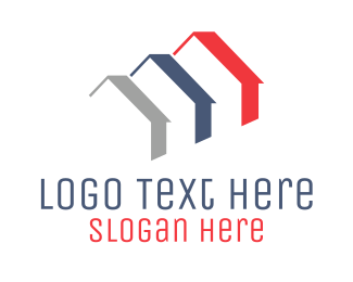 Residential Construction - Minimalist Roofs logo design