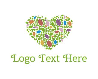 Garden - Floral Heart logo design