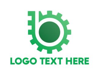 Chain - Green Gear logo design