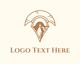 Greek - Spartan Helmet logo design