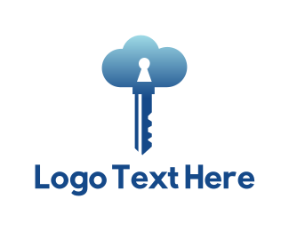 Keyhole - Cloud Security logo design