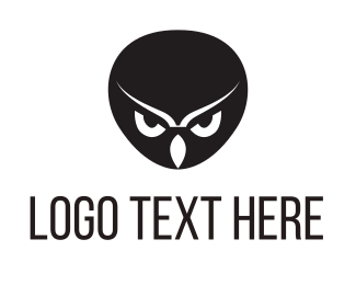 Anonymous - Black Owl Head logo design