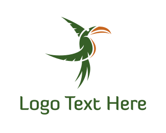 Toucan - Green Tropical Toucan logo design