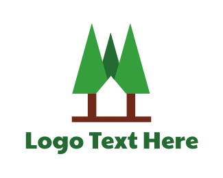 Green And Brown - Forest Home logo design