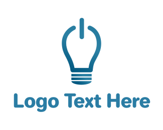 Lighting - Idea On Light Bulb logo design