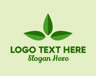 Floral - Three Leaves logo design
