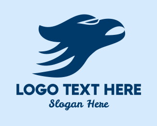 Seahawk - Blue Hawk logo design