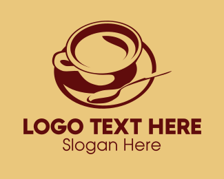 Spoon - Cup & Spoon logo design
