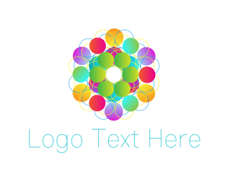 Kaleidoscope - Colorful Circles logo design