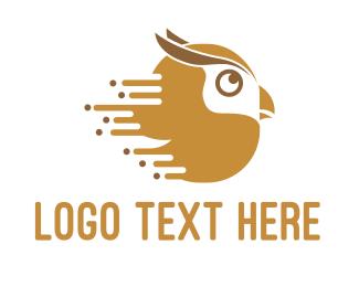 Brown - Fast Owl logo design