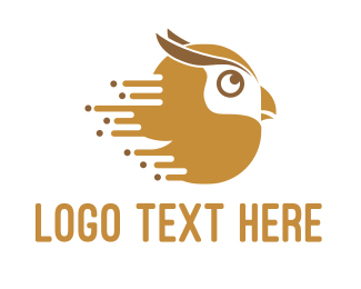 Speed - Fast Owl logo design