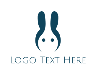 Web Design - Blue Abstract Rabbit logo design
