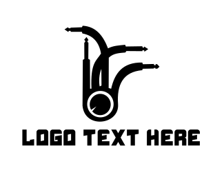 Cable - Plug Eye logo design
