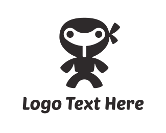 Wind - Little Wind-up Ninja logo design