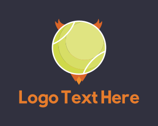 Tennis - Evil Ball logo design
