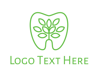 Teeth - Green Dentistry logo design