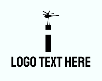 Helicopter - Cargo Helicopter logo design